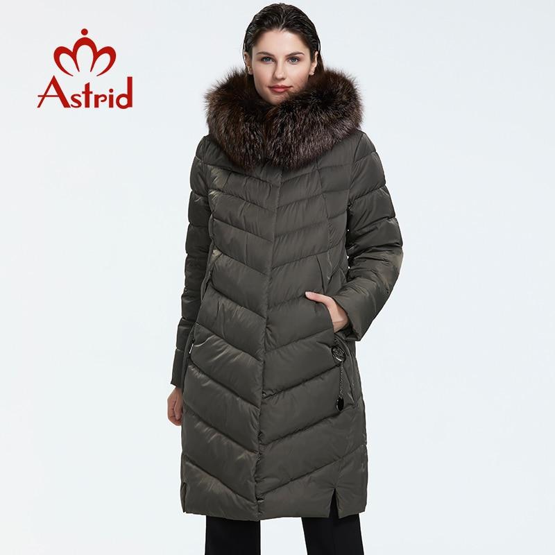 Astrid 2019 Зима новое поступление пуховик женский воротник из натурального меха свободная одежда верхняя одежда высокое качество женское зимнее пальто FR 2160