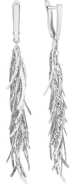 Фото «Серебряные серьги кисточки Aquamarine 30866-S-a»