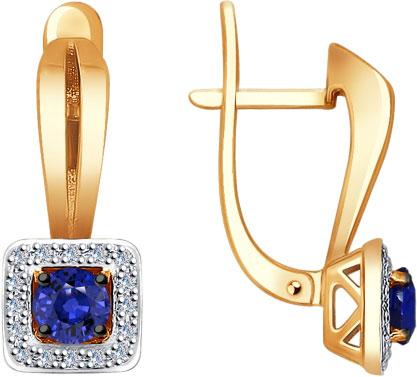 Фото «Золотые серьги SOKOLOV 2020897_s c сапфирами, бриллиантами»