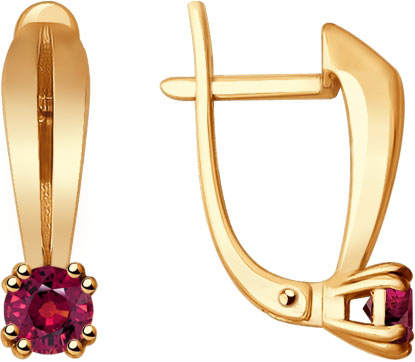 Фото «Золотые серьги SOKOLOV 4020388_s с рубинами»