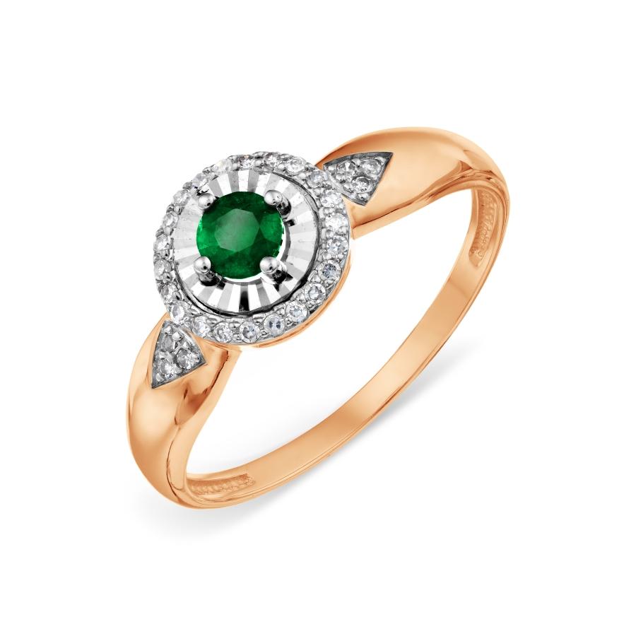 Кольцо с изумрудом и бриллиантами (арт. Т146618597)